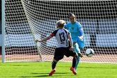 Girls playing soccer — Stock Photo