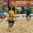 Beach soccer — Foto Stock