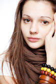 Teenage girl over white — Stock Photo