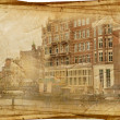 Streets of Old Amsterdam made in retro style — Stock Photo #11485214