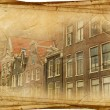 Royalty-Free Stock Photo: Streets of Old Amsterdam made in retro style