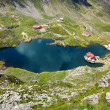 Lake Balea from a birds-eye view — Stock Photo