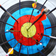 Arrows hit target. — Stock Photo