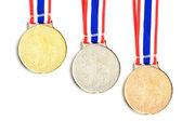 Gold Medal & Ribbon isolated. — Stock Photo