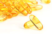 Fish oil jel capsules. — Stock Photo