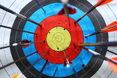 Arrows miss target. — Stockfoto