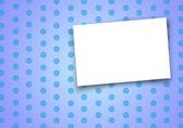 青色の背景に空白カード. — ストック写真