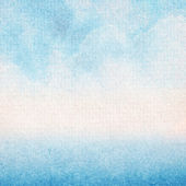 Abstract blue watercolor painted — Stock Photo