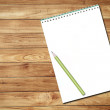 White notebook and pencil — Stock Photo