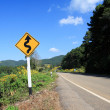 Winding road sign — Stock Photo
