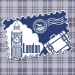 Stamp with a kind on Big Ben. - Stock Vector
