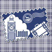 Stamp with a kind on Big Ben. — Stock Vector