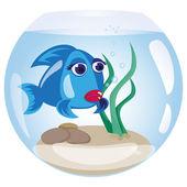 Pêcher dans un aquarium — Vecteur