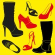 Stock Vector: Different kinds of footwear