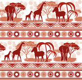 Pattern in the African style — Stock Vector