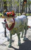 艺术牛 — 图库照片