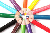 Pencils in a circle — Stock Photo