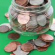 Money in a glass jar — Stock Photo #11234384
