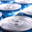 Lots of soda cans - Stock Photo