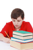 Young boy studying — Stock Photo