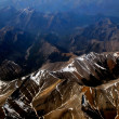 Mountain view from airplane, Rockie Mountain in canada — Stock Photo #11954396