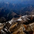 Mountain view from airplane, Rockie Mountain in canada — Stock Photo