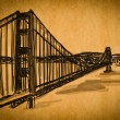 Free hand sketch collection: Golden Gate Bridge, San Francisco — Stock Photo