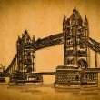 Free hand sketch collection: Bridge tower, London, England — Stock Photo