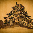 Royalty-Free Stock Photo: Free hand sketch collection: Osaka castle Osaka, Japan