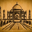 Free hand sketch collection: Taj Mahal, Agra, India — Stock Photo