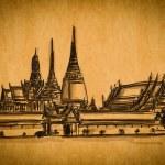 Free hand sketch collection: Grand Palace , Bangkok — Stock Photo #12296329