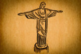 Free hand sketch collection: Christ the Redeemer — Stock Photo