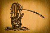 Free hand sketch collection: Singapore Merlion, Singapore — Stock Photo