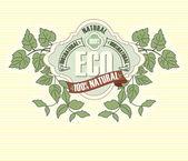 Eco labels with retro vintage design — Stock Vector