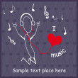 Music theme — Image vectorielle