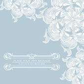 Elegance vintage invitation card place for text or message — Vector de stock
