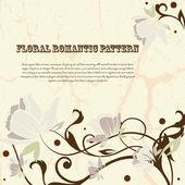 Postal floral, elemento de diseño, ilustración vectorial — Vector de stock