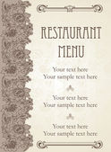 Vector. conception de menus de restaurant — Vecteur