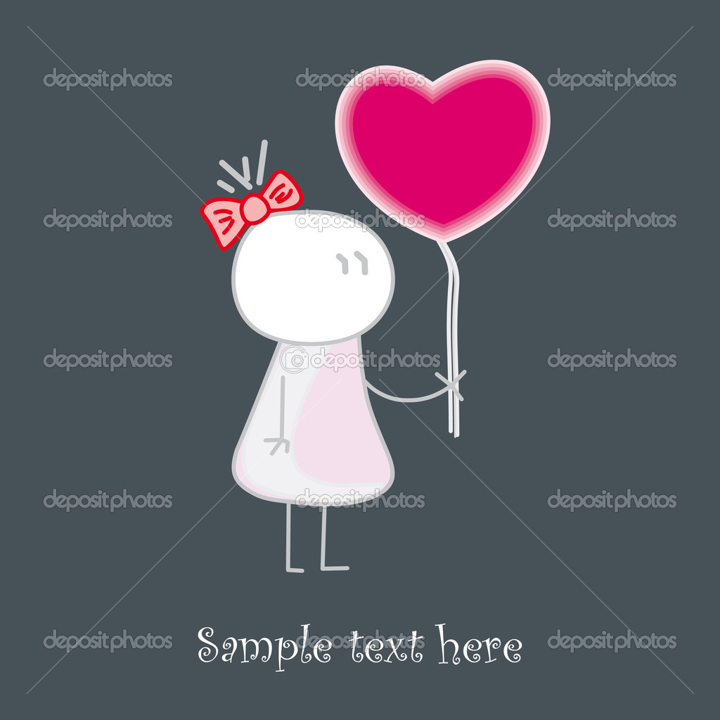 Baby who gives red love&#039;s heart  Stock Vector #11246971