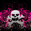 Vector skull on a grunge background - Stock Vector