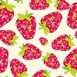 Cute fruits seamless background - Stock Vector