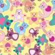 Royalty-Free Stock Vectorielle: Seamless animal pattern