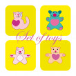 Stock Vector: Cute set of toys