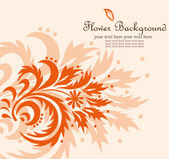 Vector flower background — Vector de stock
