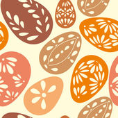 Seamless spring pattern with floral easter eggs — Vector de stock