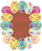 Seamless spring pattern with floral easter eggs — Stok Vektör