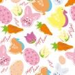 Colorful easter seamless pattern background — Stock Vector