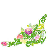 Beautiful vintage floral frame. — Stock Vector