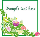 Lindo quadro floral vintage. — Vetorial Stock