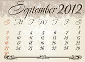 Svislý kalendář 2012 rok leden — Stock vektor